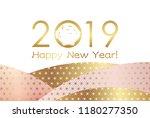 2019  year of the wild boar ... | Shutterstock .eps vector #1180277350