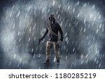 dreadful dangerous man with... | Shutterstock . vector #1180285219
