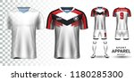 soccer jersey and football kit... | Shutterstock .eps vector #1180285300