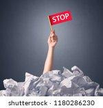 female hand emerging from... | Shutterstock . vector #1180286230
