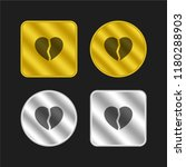broken heart gold and silver...