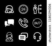 9 talking icons with headset... | Shutterstock .eps vector #1180294306