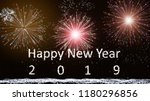 happy new year 2019  firework... | Shutterstock . vector #1180296856