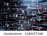 floating data code. cloud...   Shutterstock . vector #1180297360