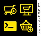 4 www icons with shopping cart...   Shutterstock .eps vector #1180301770
