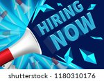 we are hiring poster or banner... | Shutterstock .eps vector #1180310176