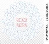 social media icons. social... | Shutterstock .eps vector #1180310866