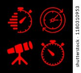 watch icons set with clock ... | Shutterstock .eps vector #1180310953