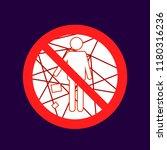 do not throw garbage here ... | Shutterstock .eps vector #1180316236