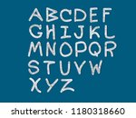 english letters are made of... | Shutterstock . vector #1180318660