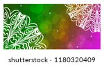 vintage card with patterns of... | Shutterstock .eps vector #1180320409