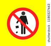 throw garbage no allowed ... | Shutterstock .eps vector #1180327663