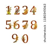 number set decorated with... | Shutterstock . vector #1180345063