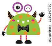 vector illustration of cute and ... | Shutterstock .eps vector #1180347730