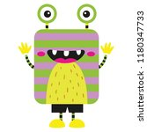 vector illustration of cute and ... | Shutterstock .eps vector #1180347733
