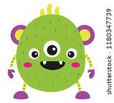 vector illustration of cute and ... | Shutterstock .eps vector #1180347739