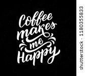 coffee lettering phrase for... | Shutterstock .eps vector #1180355833