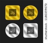 java script logo gold and... | Shutterstock .eps vector #1180359070