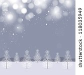 winter background for merry... | Shutterstock .eps vector #118035949