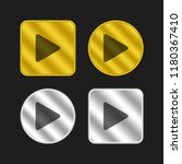 play button gold and silver...