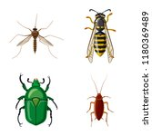 vector design of insect and fly ... | Shutterstock .eps vector #1180369489