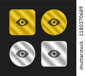 eye gold and silver metallic...