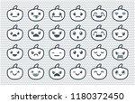 pumpkin halloween. set of icons ... | Shutterstock .eps vector #1180372450