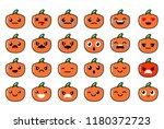 pumpkin halloween. a set of... | Shutterstock .eps vector #1180372723