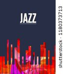 jazz music background with... | Shutterstock .eps vector #1180373713