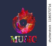 music background with colorful... | Shutterstock .eps vector #1180373716
