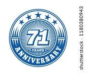71 years anniversary....   Shutterstock .eps vector #1180380943