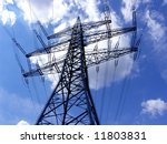 electrical powerlines with blue ... | Shutterstock . vector #11803831