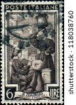 Small photo of ITALY - CIRCA 1950: A stamp printed in Italy shows Lace-making, Abruzzi e Molise, circa 1950