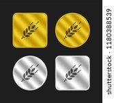 wheat gold and silver metallic...