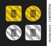 recycle bin gold and silver...