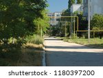 houses and structures in the... | Shutterstock . vector #1180397200