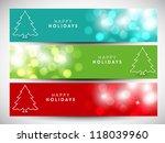 happy holidays website header... | Shutterstock .eps vector #118039960