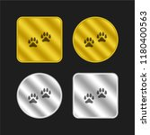 pawprints gold and silver...
