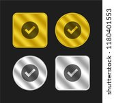 check mark gold and silver...