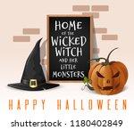 happy halloween design. home of ... | Shutterstock .eps vector #1180402849