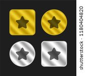 star gold and silver metallic... | Shutterstock .eps vector #1180404820