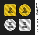 policeman gold and silver... | Shutterstock .eps vector #1180405573