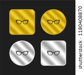 glasses of cat eyes shape gold...