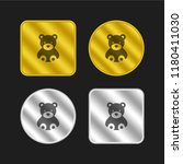 bear gold and silver metallic...