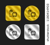 bus stop gold and silver... | Shutterstock .eps vector #1180414903