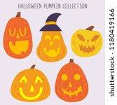 cute halloween pumpkin   Shutterstock .eps vector #1180419166