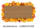 empty wooden sign with space... | Shutterstock .eps vector #1180419190