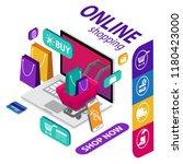 e commerce sales  online... | Shutterstock .eps vector #1180423000