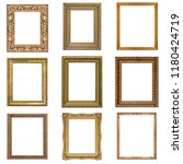 set of golden and silver frames ... | Shutterstock . vector #1180424719