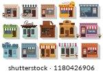 set of pretty shops.... | Shutterstock .eps vector #1180426906